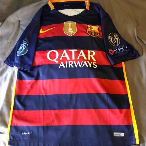 pretty nice 612ed c3332 FC Barcelona 2015/16 Home Kit Messi
